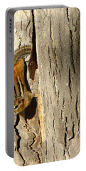 Chipmunk In Fall Portable Battery Charger