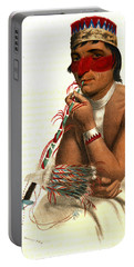 Portable Battery Charger featuring the photograph Chippeway Chief 1836 by Padre Art