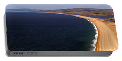 Portable Battery Charger featuring the photograph Chesill Beach Dorset by Baggieoldboy