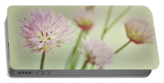 Chives In Flower Portable Battery Charger by Lyn Randle