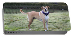 Chloe At The Dog Park Portable Battery Charger