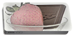 Chocolate And Strawberry Martini Portable Battery Charger