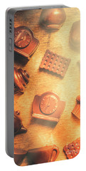 Chocolate Cafe Background Portable Battery Charger