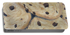Portable Battery Charger featuring the painting Chocolate Chip Cookies by Nancy Nale