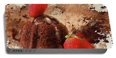 Portable Battery Charger featuring the photograph Chocolate Explosion by Darren Fisher