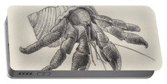 Chocolate Hermit Crab Portable Battery Charger