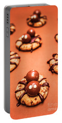 Chocolate Peanut Butter Spider Cookies Portable Battery Charger