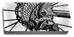 Portable Battery Charger featuring the digital art Choice Transport 2 Bw by Wendy J St Christopher