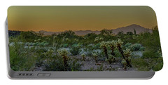 Cholla Desert Sunset Portable Battery Charger