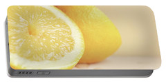 Chopped Lemon Portable Battery Charger by Lyn Randle