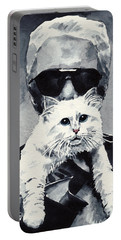 Choupette Cat And Karl Lagerfeld Portable Battery Charger