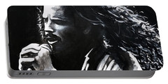 Chris Cornell Portable Battery Charger by Tom Carlton