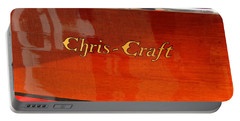 Chris Craft Logo Portable Battery Charger by Michelle Calkins