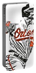 Chris Davis Baltimore Orioles Pixel Art Portable Battery Charger by Joe Hamilton