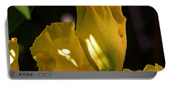 Portable Battery Charger featuring the digital art Yellow Iris by Stuart Turnbull