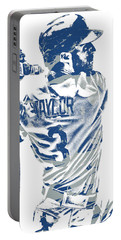 Chris Taylor Los Angeles Dodgers Pixel Art 5 Portable Battery Charger
