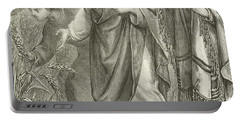 Christ And His Disciples In The Cornfields Portable Battery Charger