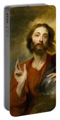 Christ As Salvator Mundi Portable Battery Charger