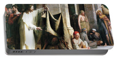 Christ Christ And The Man At The Healing Wel Portable Battery Charger