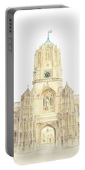 Portable Battery Charger featuring the painting Christ Church by Elizabeth Lock