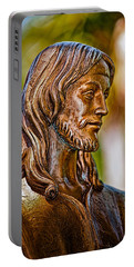 Christ In Bronze Portable Battery Charger