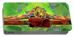Christ In Stained Glass Portable Battery Charger