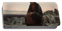 Christ In The Desert Portable Battery Charger