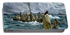 Christ Walking On The Sea Of Galilee Portable Battery Charger