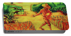 Portable Battery Charger featuring the painting Christian Art Parable Of The Sower Artwork T Bertram Poole by Thomas Bertram POOLE