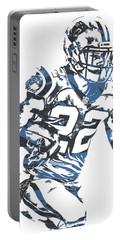 Christian Mccaffrey Carolina Panthers Pixel Art 3 Portable Battery Charger
