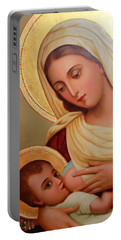 Christianity - Baby Jesus Portable Battery Charger by Munir Alawi