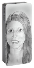 Portable Battery Charger featuring the drawing Christina by Mayhem Mediums