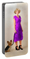 Portable Battery Charger featuring the digital art Christina by Nancy Levan