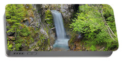Christine Falls In Mt Rainier National Park Portable Battery Charger