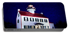 Christmas At East Point Lighthouse Portable Battery Charger