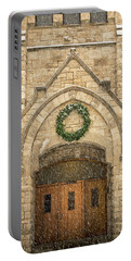 Christmas At Stone Chapel Portable Battery Charger