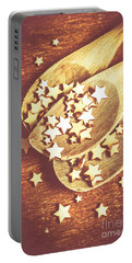 Christmas Baking Background Portable Battery Charger