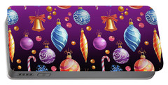Christmas Bulb On Purple Shade Portable Battery Charger