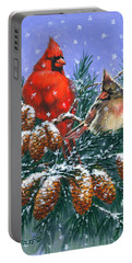 Christmas Cardinals #1 Portable Battery Charger
