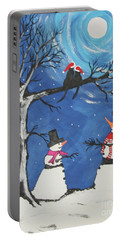 Christmas Cats In Love Portable Battery Charger by Jeffrey Koss