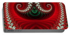 Christmas Swirls Portable Battery Charger