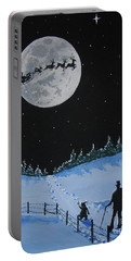 Christmas Eve Stroll Portable Battery Charger