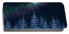 Portable Battery Charger featuring the painting Christmas Eve by Veronica Minozzi