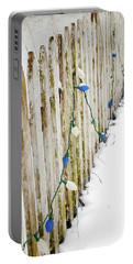 Christmas Fence Portable Battery Charger