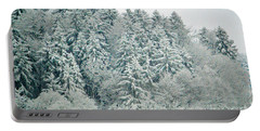 Portable Battery Charger featuring the photograph Christmas Forest - Winter In Switzerland by Susanne Van Hulst