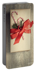 Christmas Gift With Candy Canes Portable Battery Charger