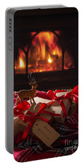 Christmas Gifts By The Fire Portable Battery Charger