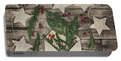 Portable Battery Charger featuring the photograph Christmas Greens by Kim Hojnacki