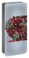 Portable Battery Charger featuring the photograph Christmas Heart by Linda Prewer