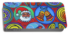 Christmas In Circles Portable Battery Charger